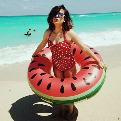 Large Watermelon Diamond Ring Inflatable Swimming Pool Float