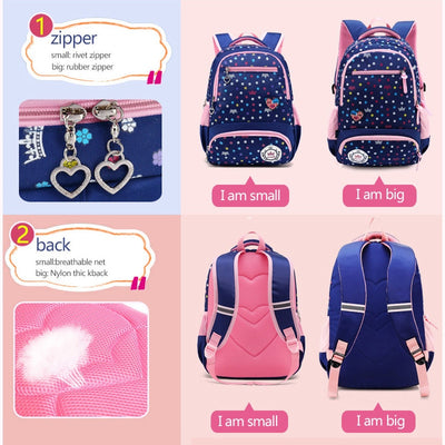 Large Capacity Daisy Flower Pattern Backpack School Bag For Teenagers Girls
