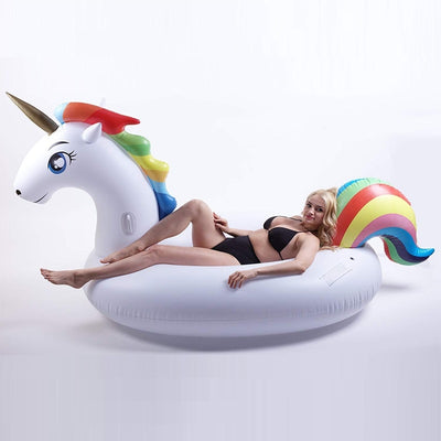 Giant Inflatable Unicorn 200cm Swimming Pool Float Mattress Lounger Raft