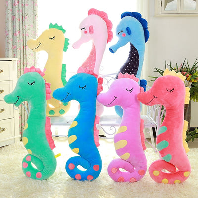 Soft Colorful Seahorse Plush Pillow Stuffed Doll