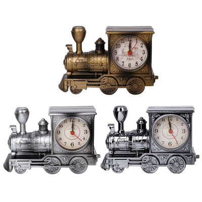 Classic Steam Train locomotive Alarm Desk Clock Gifts