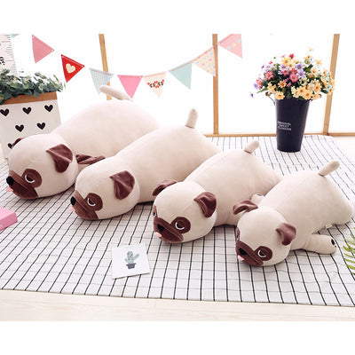 Cute Sleeping Pug Dog Stuffed Doll Pillow Gifts
