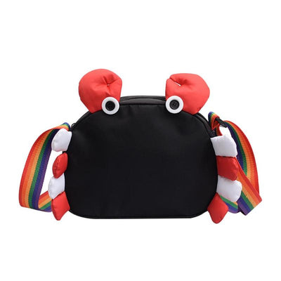 Mini Crab Leather Purse Bag Handbag Gift