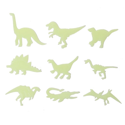 9 Pcs/Set Glow In The Dark Dinosaurs Wall Stickers Decal Toys