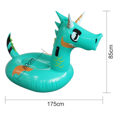Giant Green Dragon Dinosaur Inflatable Pool Float