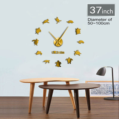 I Love Turtles Sea Turtles Frameless DIY Large Wall Clock Home Decor Gifts