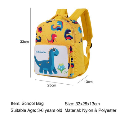 Cartoon Dinosaur Anti-lost School Bag Plush Backpack