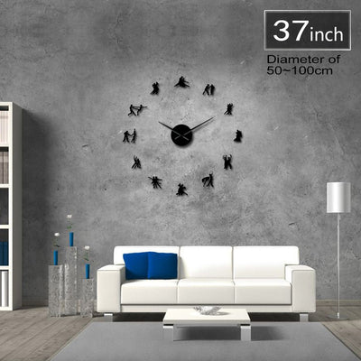 Ballroom Dancing Frameless DIY Large Wall Clock Home Decor Gifts