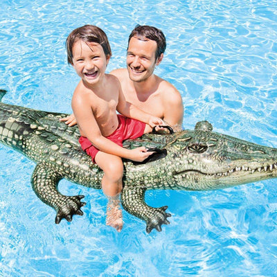 Giant Crocodile Swimming Pool Float Mattress Lounger Raft Toys