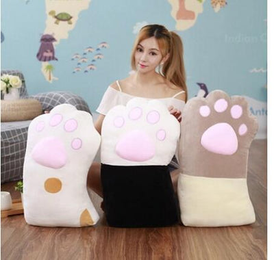 Cute Super Soft Cat Paw Cushion Plush Throw Pillow Gift