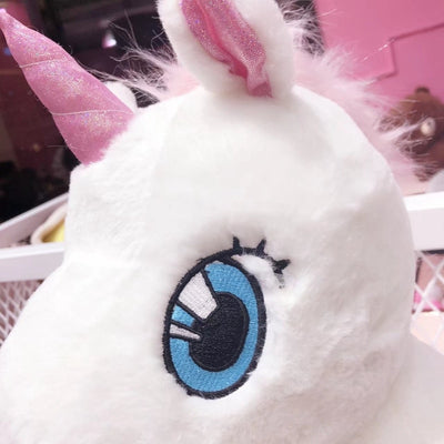 Lovely Soft Unicorn Plush Stuffed Doll with Long Tail