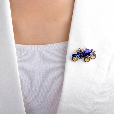 Cute Retro Classic Car Enamel Brooch
