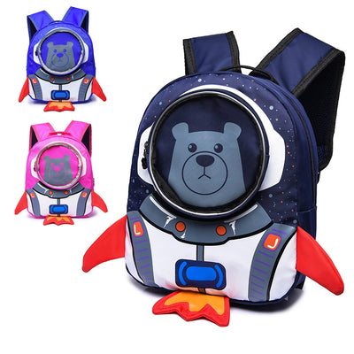 Astronaut Space Bear Mini School Bag Backpack Kids