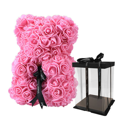 Rose Flower Teddy Bear Doll Valentine's Day Gifts