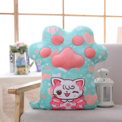 Cute Cat Paw Shape Pillow Plush Doll Gift