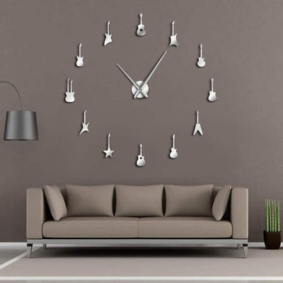 Guitar Variety Models D.I.Y. Frameless Wall Clock Guitarist Gifts