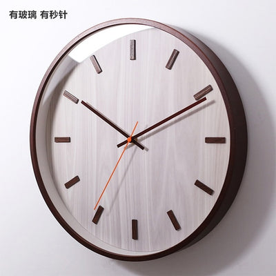 Modern Wooden Silient Quiet Wall Clock Japanese Style