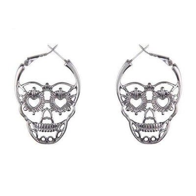 Sugar Skull Skeleton Earrings For Women
