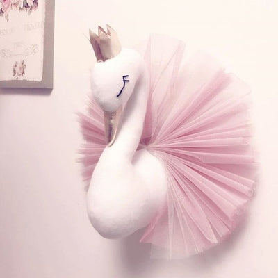 Queen Swan Flamingo Wall Hanging Mount Stuffed Plush Toy Doll