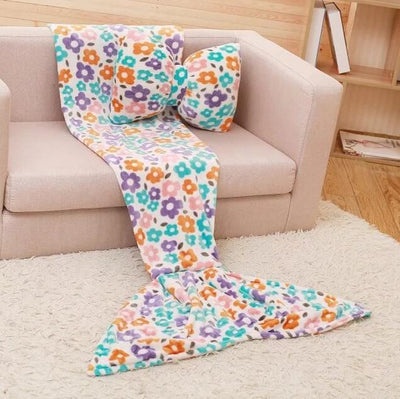 Soft Colorful Mermaid Tail Coral Velvet Warm Blanket