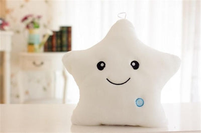 Luminous Glowing LED Star Soft Plush Pillow Cushion