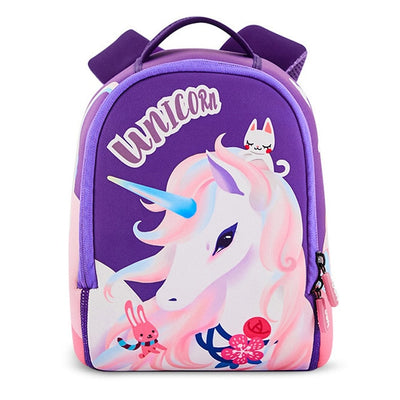 Purple Beautiful Unicorn Backpacks School Bags For Girls