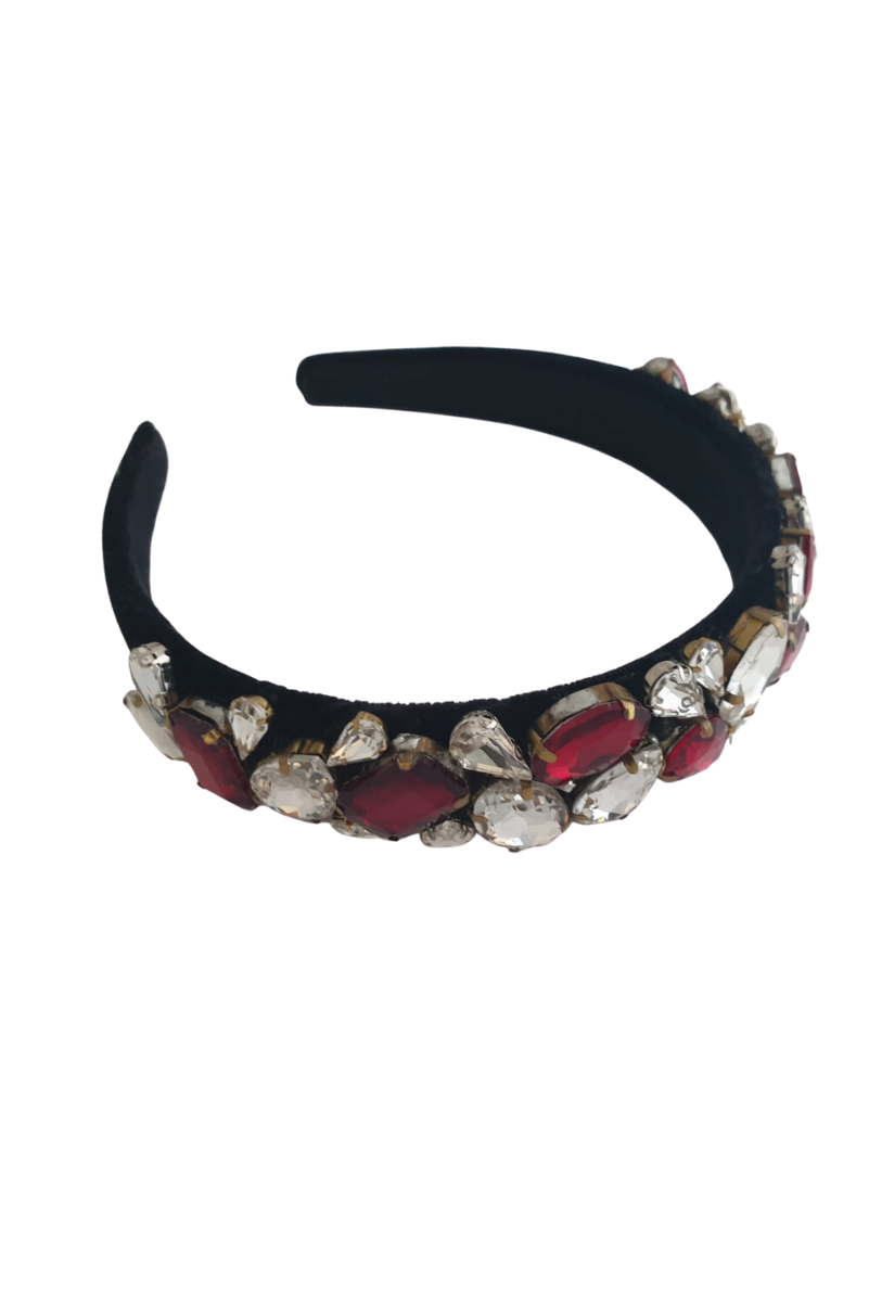 One-of-a-kind embellished headband