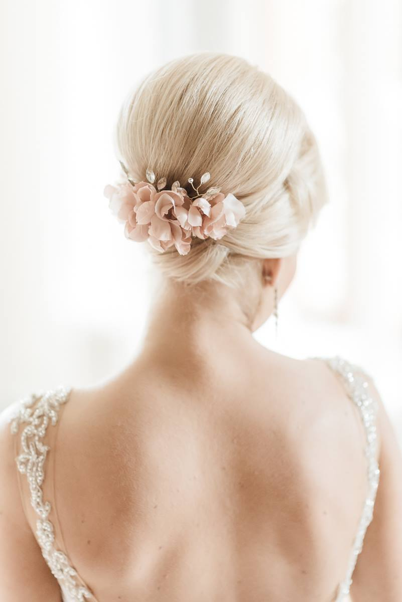 MARIA | Silk flower crystal bridal headpiece - byKatriin
