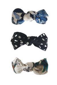 Top knot silk headband - Multiple colours available
