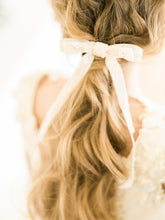 Load image into Gallery viewer, bridal velvet bow embellished with pearls