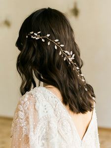 ALEXANDRA | Crystal Branched Bridal Headpiece