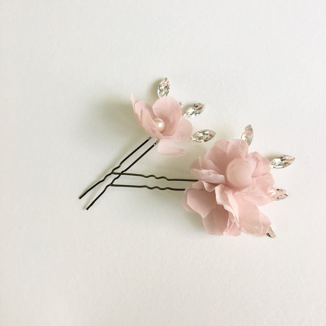 MAIA | Whimsical Silk Flower Hair Pins for brides, bridesmaids, flower girls