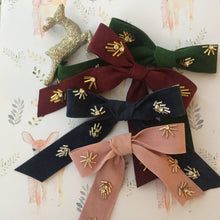 Load image into Gallery viewer, Embellished Velvet Bow Hair clip - byKatriin