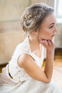REELIKA | Unique floral bridal headpiece demi-vine
