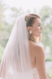 by katriin - bridal headpiece with flowers crystals and pearls - www.katriin.com