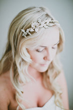 Load image into Gallery viewer, EVANGELINE | Pearly Double Bridal statement headpiece - byKatriin