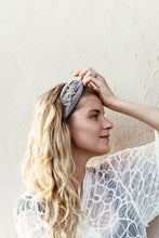 Load image into Gallery viewer, KELLY |  Gray Embellished Velvet Statement Headband