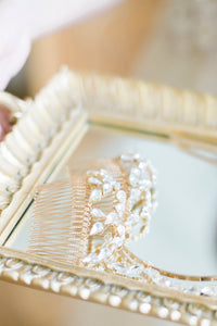 SILVIA | Crystal arches art deco bridal hair comb - byKatriin