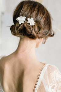 DIANE | Delicate floral beaded bridal hair pins - byKatriin