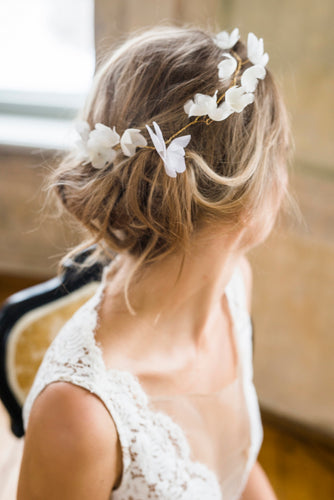 by Katriin bridal – silk flower bridal hair vine www.katriin.com
