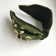 Load image into Gallery viewer, KELLY |  Embellished Silk Velvet Statement Headband