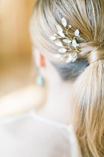 GRACE | Crystal branches bridal hair pins - byKatriin