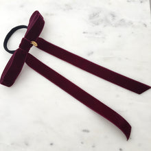 Load image into Gallery viewer, ALICE - Velvet Bow Barrette