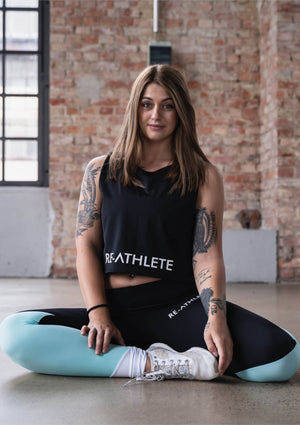 Re-Athlete 'Black' Crop Top