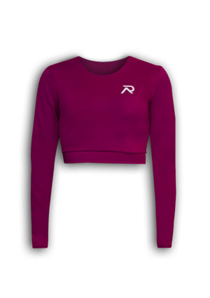 Re-Athlete 'Berry' Cropped Longsleeve