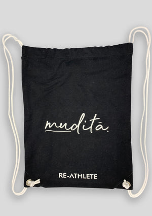 Re-Athlete 'Black muditā.' Gym Bag