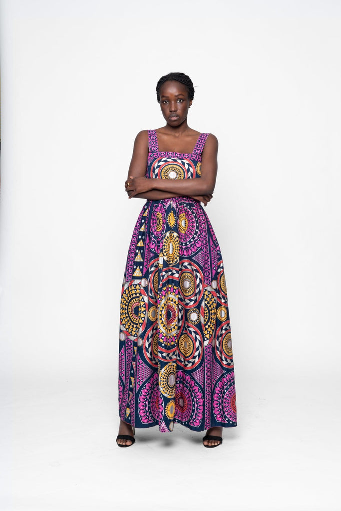 The Circle of Life Maxi Dress with Split Dress Maakola