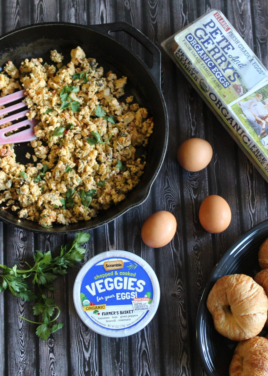 Scramble veggies for your eggs