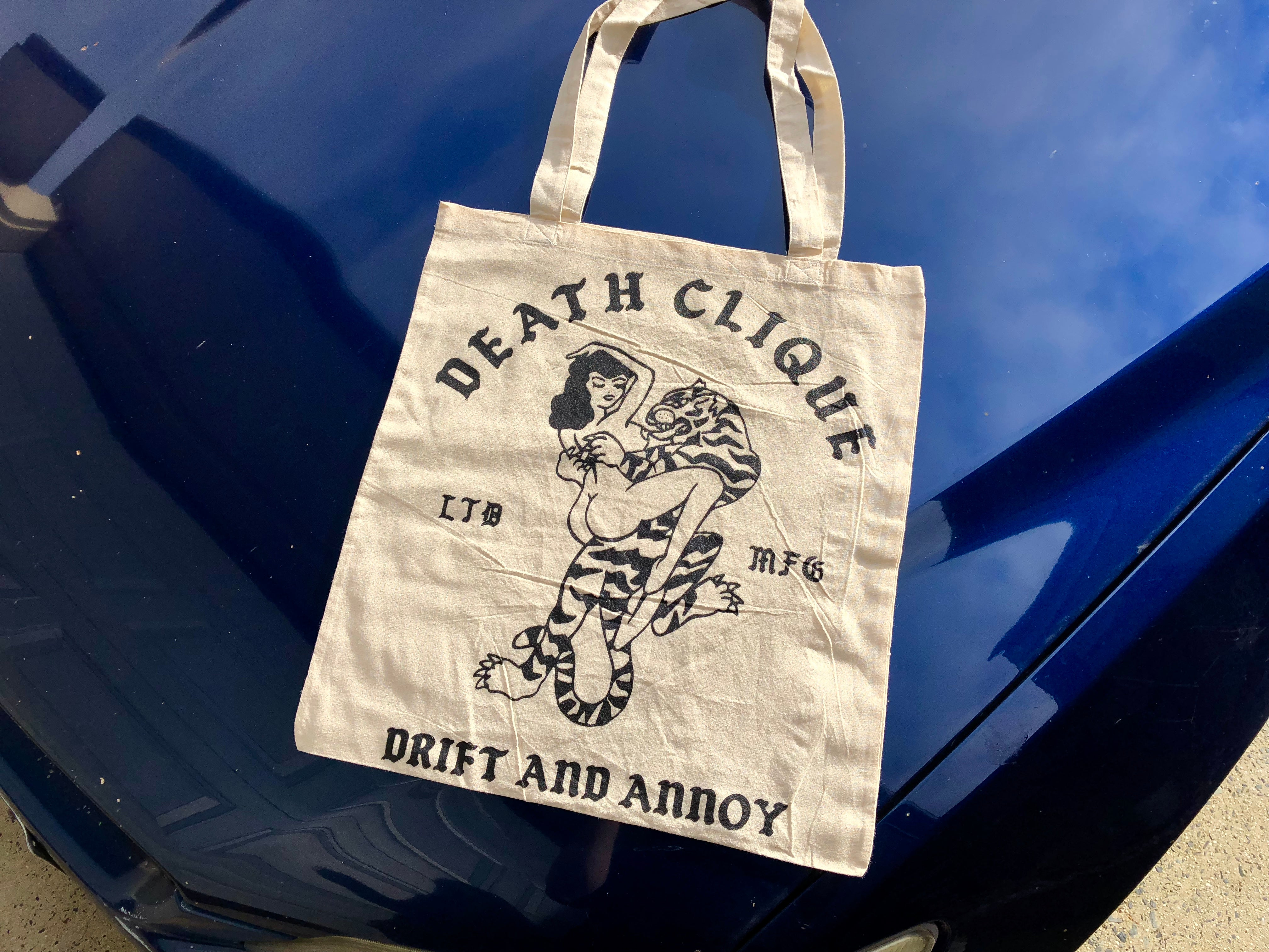 Drift and Annoy Canvas Tote Bag