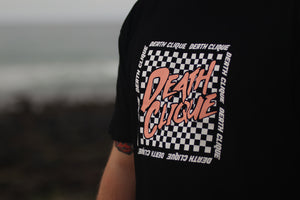 Checkered Clique Black Tee